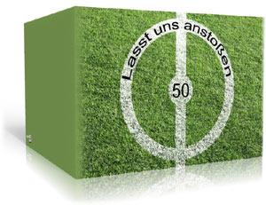 Einladungskarte zum Geburtstag - Fussball